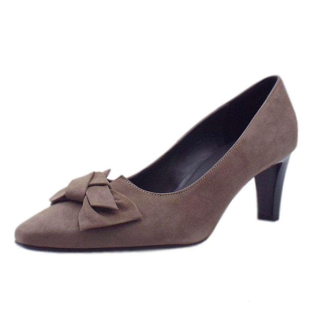 Peter Kaiser Mallory Mid Heel Pointed Toe Court Shoes In Fur Suede r1aW9
