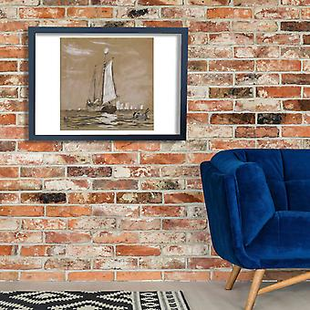 Winslow Homer - A Fishing Schooner Poster Print Giclee