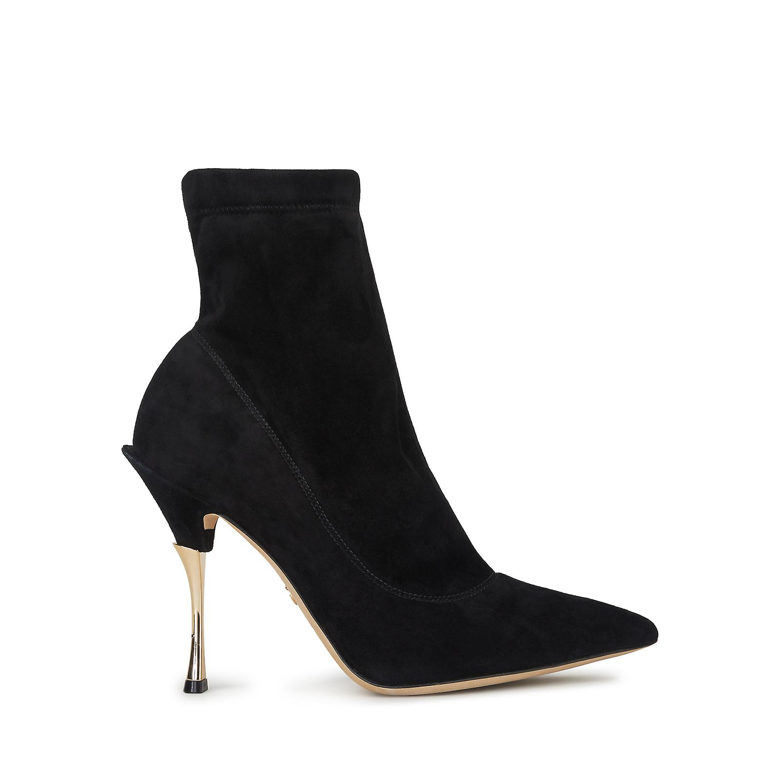 Dolce & Gabbana Pointed Short Boots In Solid-Coloured Stretch Suede hfm3O