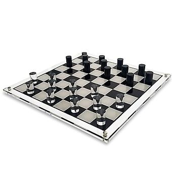 OnDisplay 3D Luxe Acrylic Checkers Set, Clear
