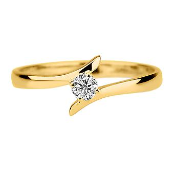0.1 Carat G VS1 Diamond Engagement Ring 14K Yellow Gold Solitaire Unique Round