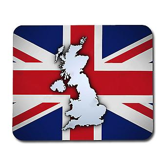 The Union Jack & Map Mouse Pad