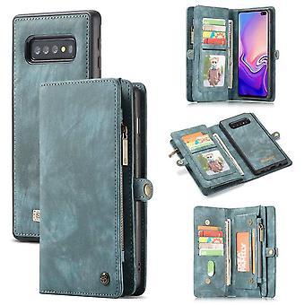 CaseMe Vintage Wallet Case Hoesje Samsung Galaxy S10 Plus - Groen
