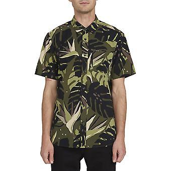 Volcom Mentawais Short Sleeve Shirt in Military