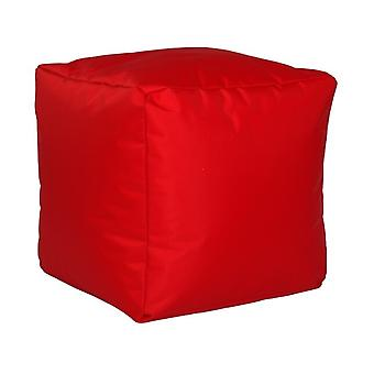 Seat cube nylon red big with filling 40 x 40 x 40
