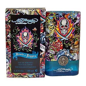 Ed Hardy Hearts & Daggers by Christian Audigier for Men 3.4 oz Eau De Toilette Spray