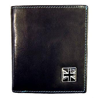 Tyler e carteira de Jeans de União Jack Tyler couro - preto