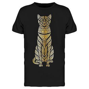 Cat Head Afrikanska Egypten Totem Tee Men & apos; s -Bild av Shutterstock