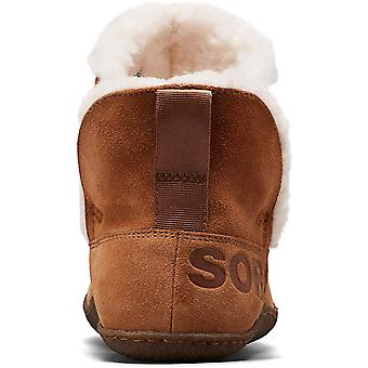 Sorel - Women's Nakiska Bootie House Slippers with Suede and Faux Fur Lining