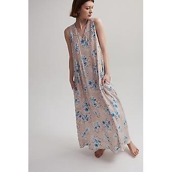 Lindsay Nicholas NY Maxi Vestido en Rosa Floral