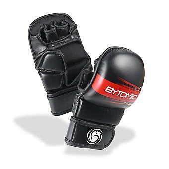Bytomic Achse MMA Sparring Handschuhe schwarz/rot