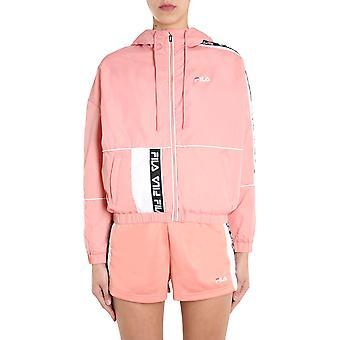 Fila 687692a483 Kvinder's Pink Nylon Overtøj Jakke