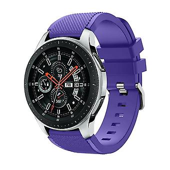 for Samsung Galaxy 42mm / 46mm Watch Wristband Bracelet Band Strap Silicone[46mm,Purple]