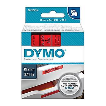 Dymo D1 blk sur ruban rouge 19 mm x 7 m