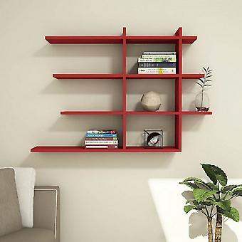 Kolor mieszany Czerwona półka z chipem melaminowym, PVC 120x22x82 cm
