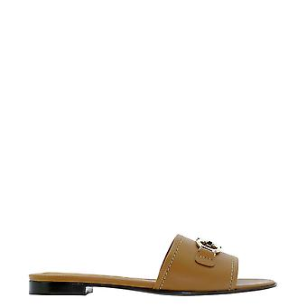 Salvatore Ferragamo 0730196 Dames's Beige Leather Sandals