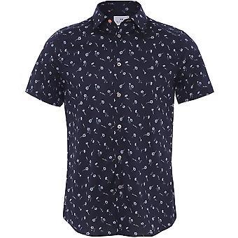 ポールスミステーラードフィット半袖フローラルシャツ