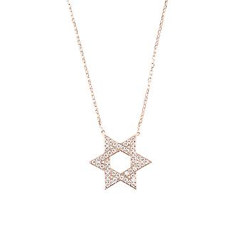 Latelita 925 Sterling Silver Star of David Jewish Faith Pendant Necklace CZ