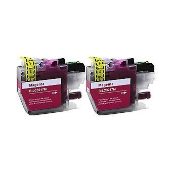 RudyTwos 2x Replacement for Brother LC3217M Ink Unit Magenta Compatible with MFC-J5330, DWMFC-J5335, DWMFC-J5730, DWMFC-J593, 0DWMFC-J6530, DWMFC-J6930, DWMFC-J6935DW