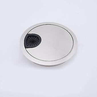 Zinc Alloy Computer Grommet Table Cable Outlet Port With Wire Hole And Cover Base Surface