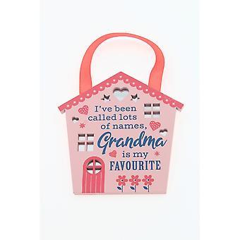 Reflective Words Grandma Hanging Plaque