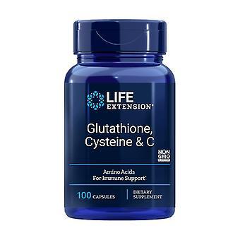 Glutathion, Cystein og C 100 kapsler