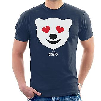 Coca Cola Polar Bear Love Men's T-Shirt