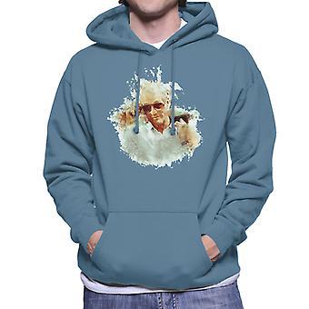 Paul Newman op Cannes Film Festival 1987 mannen Hooded Sweatshirt