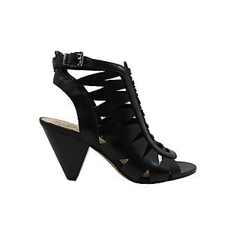Vince Camuto Womens Elettra couro Peep Toe Casual tornozelo cinta sandálias