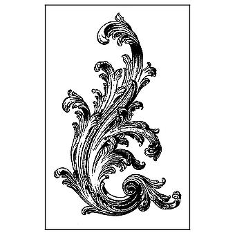 Natural Rubber Stamp Victorian Volute (WTKCC135)