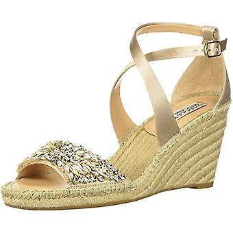 BADGLEY MISCHKA Women's Shoes MP4119 Satin Peep Toe Casual Espadrille Sandals
