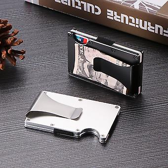 Carbon Fiber Wallet Money Clip - Metal Card Pack Wallet Thin Bills Cash Clips