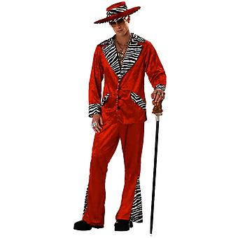 Sweet Daddy Beaujolais Pimp Red Big Daddy 1920s 70s Gangster Suit Men Costume