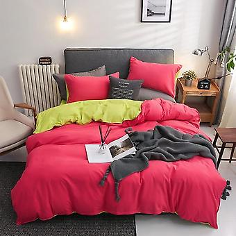 Solid Color Mirco Fiber Nordic Printed Bedding Set