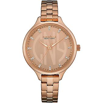 Caravelle Watch 44L207 - Plated Stainless Steel Ladies Quartz Analogue