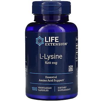 Prolongation de la durée de vie utile, L-Lysine, 620 mg, 100 capsules végétariennes