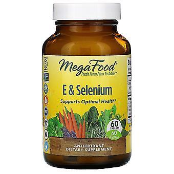 MegaFood, E & Selenium, 60 tabletten
