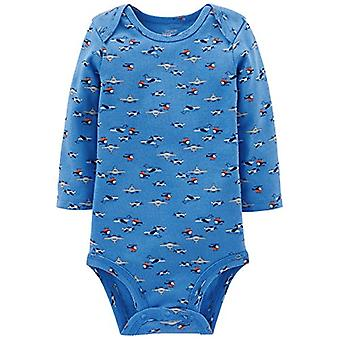 Simple Joys by Carter's Baby Boys 5-Pack Long-Sleeve Bodysuit, Blue/Grey, Pre...