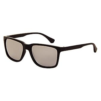 Sunglasses Unisex matt black with mirror lens (AZ-85)