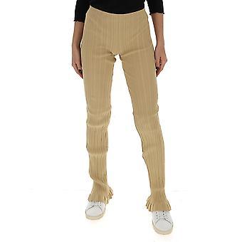 Acne Studios Ak0231sbg Women's Beige Wool Pants