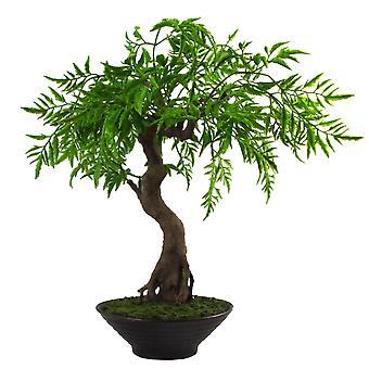 Arbre artificiel de Ficus Bonsai torsadé artificiel de 45cm