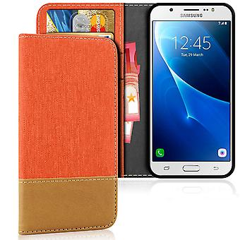 Samsung Galaxy J5 (2016) Phone Card Holder Magnet Mobile Shell Protection Leatherette