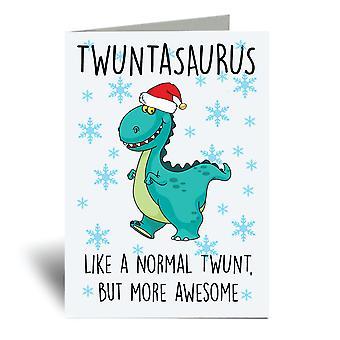 Twuntasaurus A6 Christmas Card