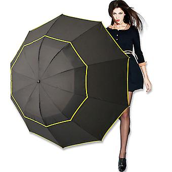 Umbrella Windproof Waterproof - Male Women Sun 3 Floding Big Umbrella Outdoor