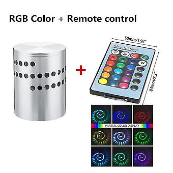 Rgb Spiral Hole Led Wall Lamp With Remote Controller Colorful Effect For Party Bar Lobby Home
