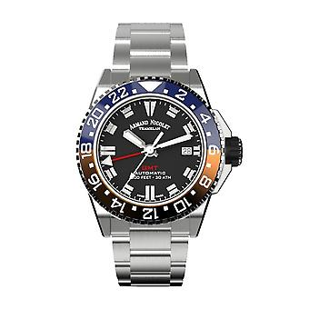 Armand Nicolet JS9-41 GMT Watch for Men's (A487BGN-NR-MA2481AA)