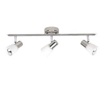 Luz BRILLANTE Luca tubo punto 3flg hierro/cromo/blanco ? 3x R50, E14, 40W, adecuado para lámparas reflectoras (no incluidas)