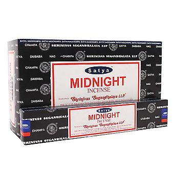 Satya Midnight Incense Sticks (Box Of 12 Packs)