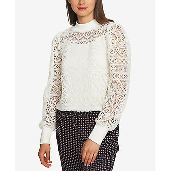 1.State | Plush Luxe Crochet Lace Mock Neck Top