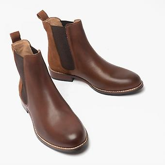 Hush Puppies Chloe Ladies Leather Ankle Boots Brown